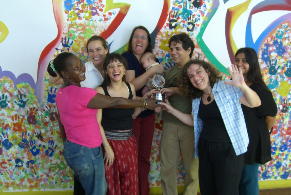 CatComm staff receives 2006 Tech Award trophy at our Casa Community Networking Hub