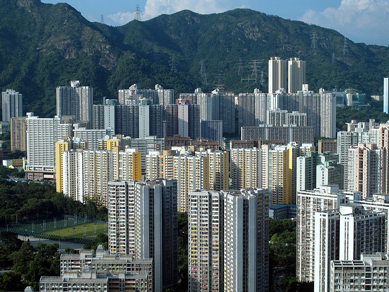 Wong Tai Sin Public Housing Estate in Hong Kong