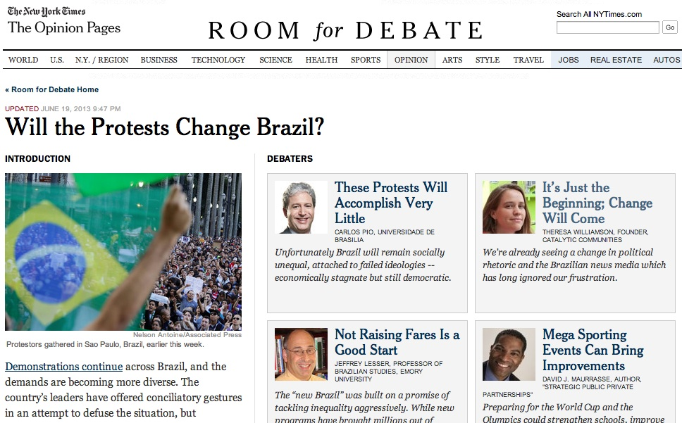 2013 New York Times Debate Protests