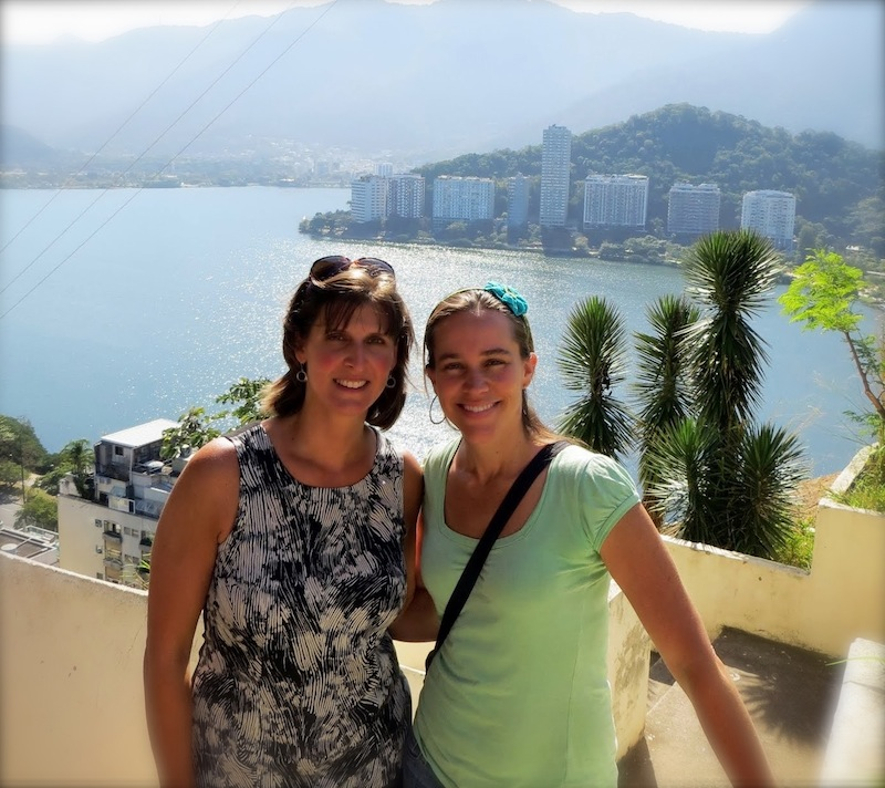 Frana Milan with CatComm ED Theresa Williamson from Cantagalo favela in Rio