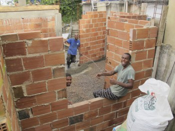 Houses in favelas are made of brick, cement and reinforced steel