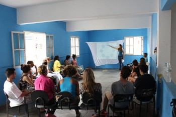 The workshop was held at Vidigal Neighborhood Association