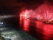 New Years Fireworks over Copacabana beach