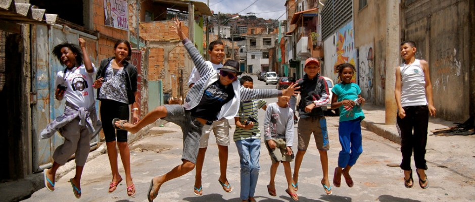Local kids in favela