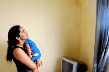 Patrícia dos Santos in her Campo Grande apartment. Photo by Catherine Osborn