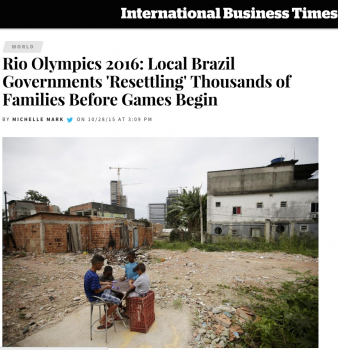 Rio Olympics 2016: Local Brazil Governments 'Resettling' Thousands of Families Before Games Begin