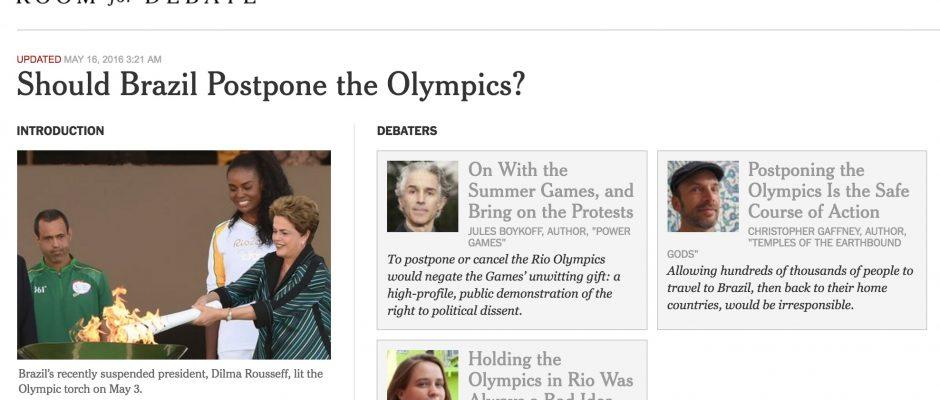 NYT Room for Debate