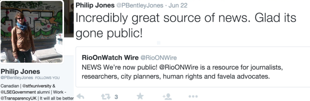 LSE and Transparency's Philip Jones congratulates RioONWire on going public