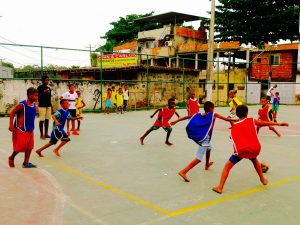 Kids playing soccer in Pica-Pau