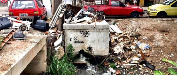 Asa Branca's polluted stream